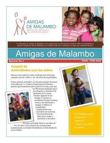Boletín No. 1 Amigas de Malambo