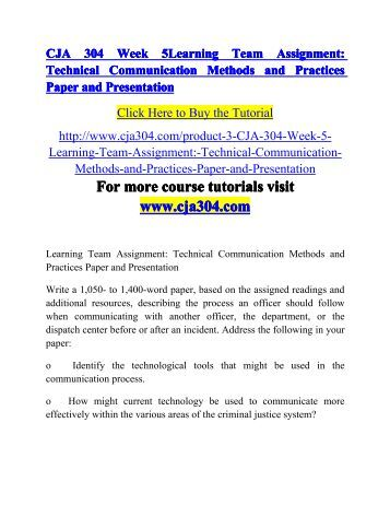 cja 304 week 2 learning 2 cja 304 week 1 individual assignment barriers to effective communication paper cja 304 week 2 discussion question 1 cja 304 learning.