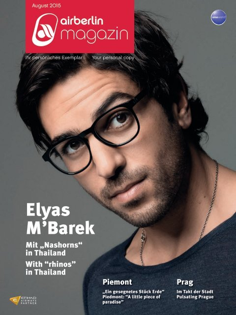 August 2015 airberlin magazin - Elyas M'Barek