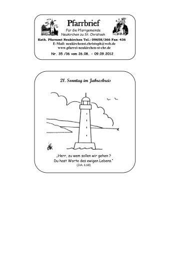 21. Sonntag im Jahreskreis - Pfarrei Neukirchen zu St. Chr.