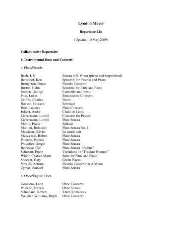 Download Lyndon's complete repertoire list in PDF format