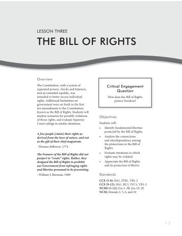 Bill of rights worksheet answers