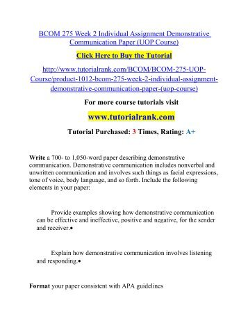 what is demonstrative communication essay