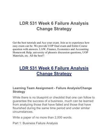 failure analysis change strategy copy