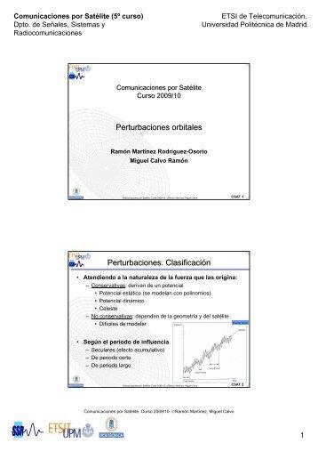 Perturbaciones orbitales Perturbaciones Clasificación