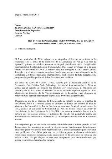 Para leer completo el derecho de petición en formato PDF, hacer ...