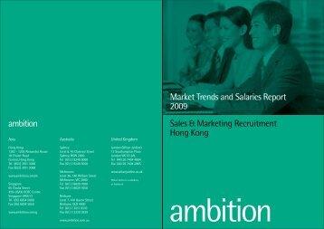 Sales & Marketing Recruitment Hong Kong Market Trends - CTHR.hk