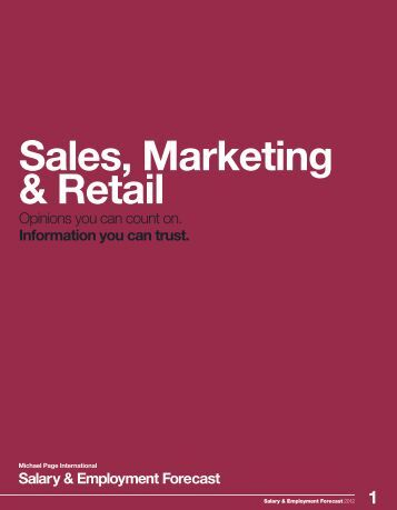 3 Sales, Marketing & Retail - Michael Page Hong Kong