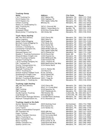 Trucking Companies Operating in Mississippi