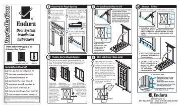 garage door installation instructions