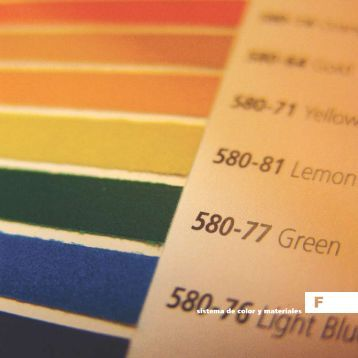 sistema de color y materiales