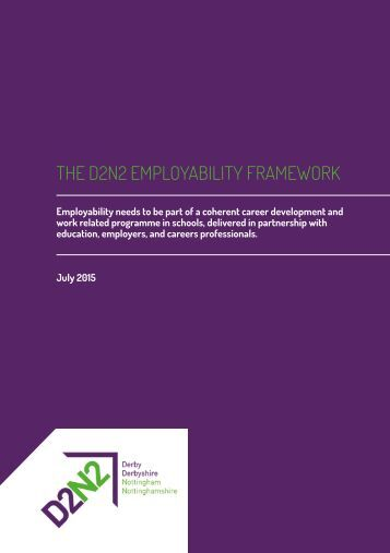 THE D2N2 EMPLOYABILITY FRAMEWORK