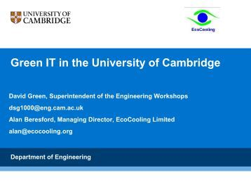 Green IT in the University of Cambridge