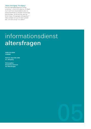 Anti-Aging - Deutsches Zentrum für Altersfragen