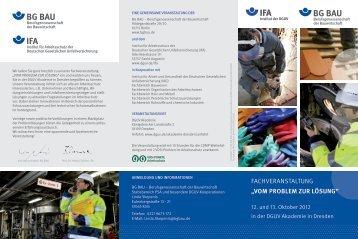 Vom Problem zur Lösung - Deutsche Gesetzliche Unfallversicherung