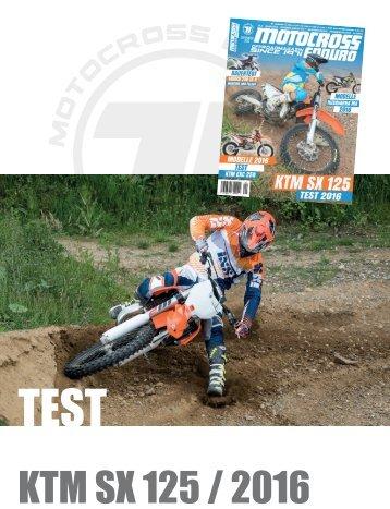 MCE/ Test KTM SX 125 / 2016