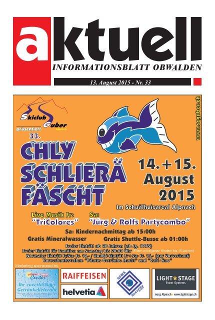 Aktuell Obwalden 33-2015