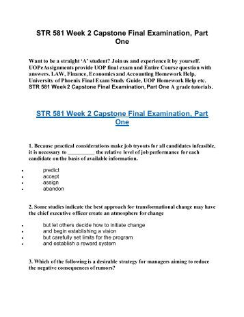str 581 week 4 quiz Study flashcards on str/581 str 581 week four quiz at cramcom quickly memorize the terms, phrases and much more cramcom makes it easy to get the grade you want.