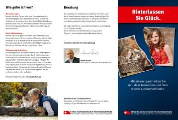 Schweizerische Tiermeldezentrale STMZ | Legat