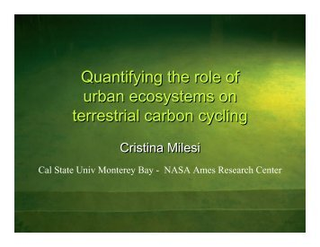 Quantifying the role of urban ecosystems on terrestrial carbon cycling