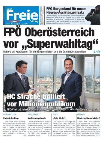 """FPÖ Oberösterreich vor """"Superwahltag"""""""