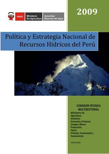 Política y Estrategia Nacional de Recursos Hídricos del Perú