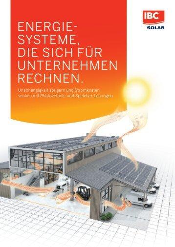 Photovoltaiklösungen für Unternehmen