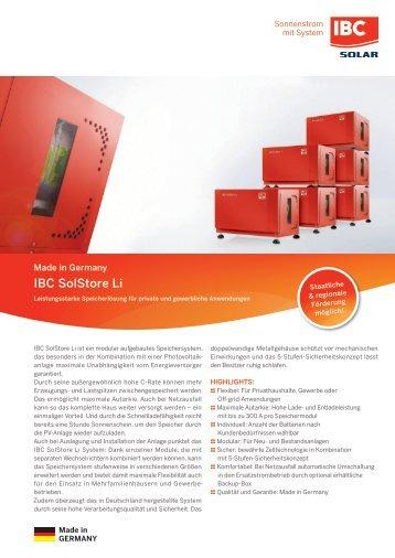 Datenblatt IBC SolStore Li