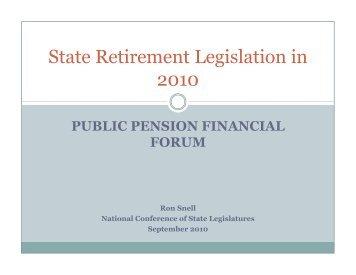 Federal and State Legislative Updates - Public Pension Financial ...