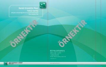 Renkli Emeklilik Planı Teklif Formu