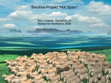 """Blacklist-Projekt """"NiX Spam"""""""