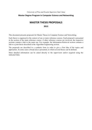 Thesis application