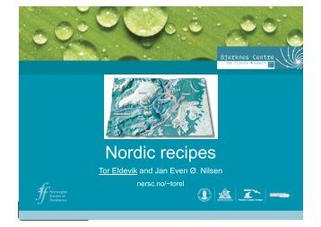 Nordic recipes