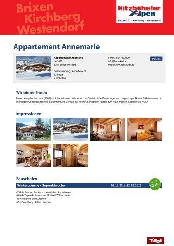 Appartement Annemarie