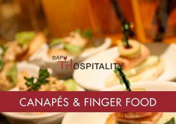 CANAPÉS & FINGER FOOD - Bapu Hospitality