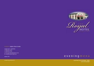 evening menu - The Royal Hotel