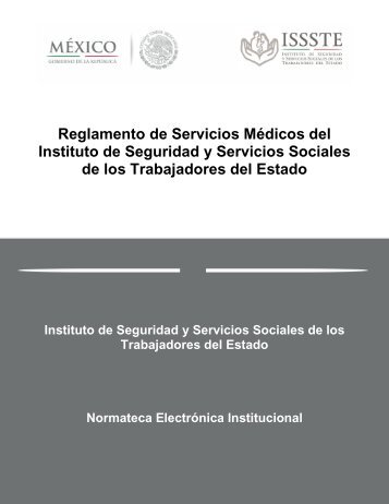 Reglamento de Servicios Médicos del Instituto de Seguridad y ...