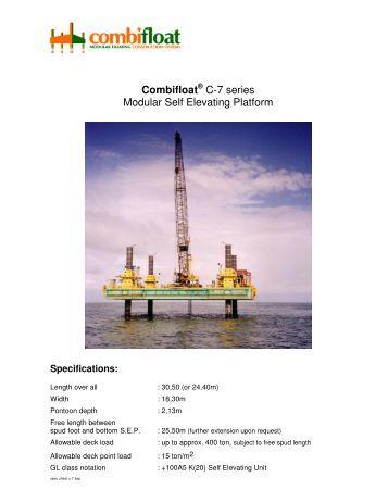 Combifloat C-7 series Modular Self Elevating Platform