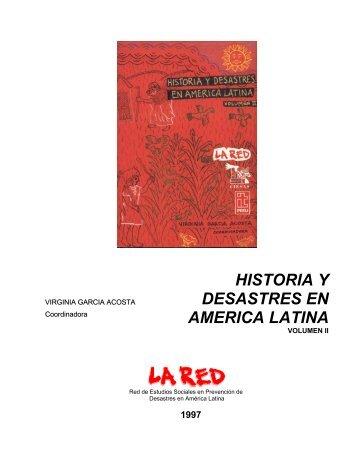 fuentes y estudios sobre desastres históricos en colombia ... - La RED