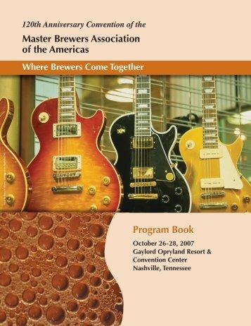 Program Book Master Brewers Association of the Americas