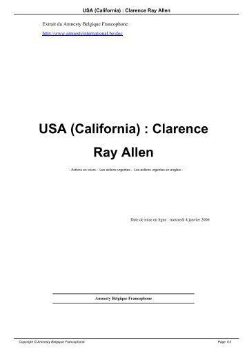 USA (California)  Clarence Ray Allen