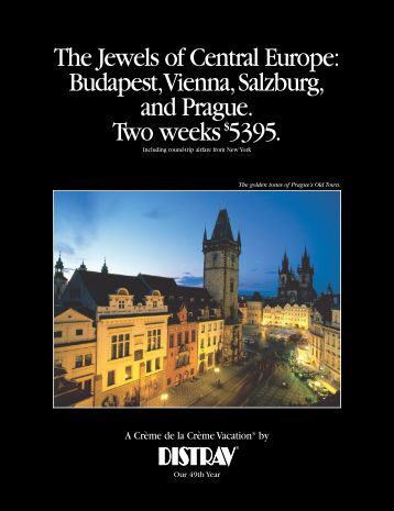 The Jewels of Central Europe: Budapest,Vienna,Salzburg ... - Distrav