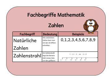 fachbegriffe mathematik rechengesetze