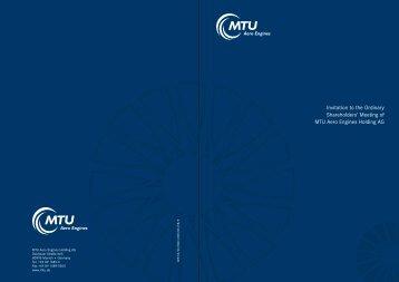 PDF (419 KB) - MTU Aero Engines - MTU Aero Engines