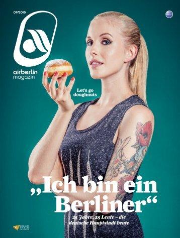 September 2015 airberlin magazin - Ich bin ein Berliner