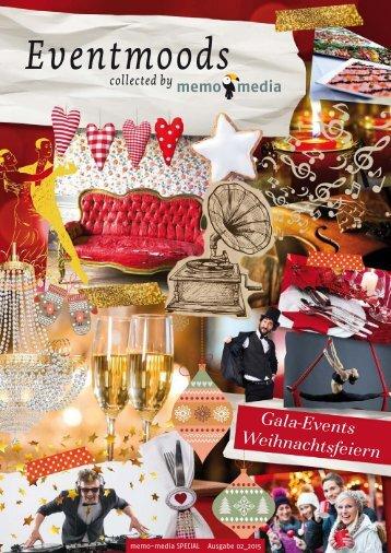 Weihnachtsfeier / Gala-Events Eventmoods 2015-02