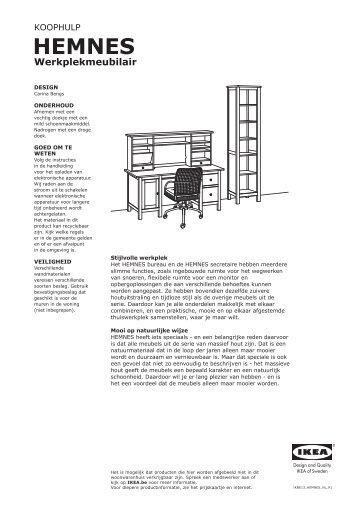 HEMNES werkplekmeubilair - Ikea