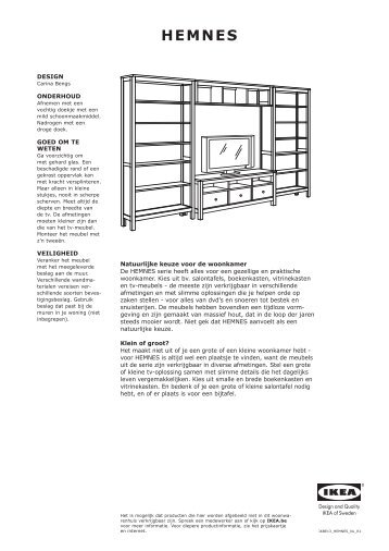 HEMNES opbergserie - Ikea