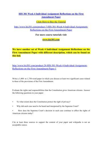 reflections on the first amendment paper Reflections on the first amendment paper introduction the first amendment of the constitution of the united states of america, grants american citizens with the freedom of speech, religion, and press.