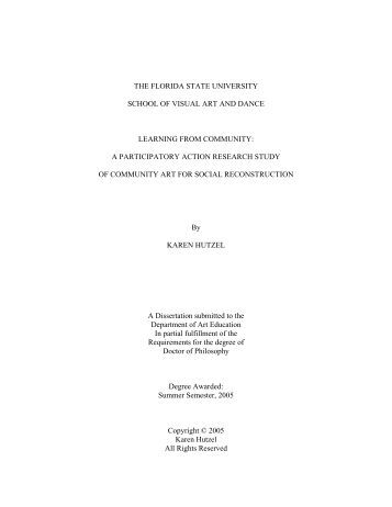 a participatory action research study of c - Florida State University